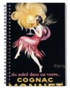 Vintage Poster Cognac Monnet, 1927 Spiral Notebook