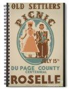 Vintage Poster Old Settlers Picnic Spiral Notebook