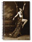 Vintage Poster Posing Dancer In Costume Spiral Notebook