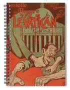 Vintage Poster - Vatican Galantara Spiral Notebook