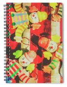 Vintage Pull String Puppets Spiral Notebook
