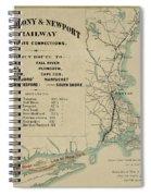 Vintage Railway Map 1865 Spiral Notebook
