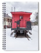 Vintage Red Caboose In The Snow Spiral Notebook