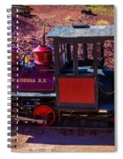 Vintage Red Calico Train Spiral Notebook