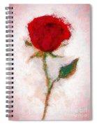 Vintage Red Rose  Spiral Notebook