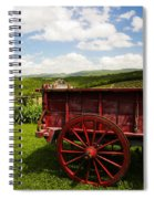 Vintage Red Wagon Spiral Notebook