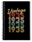 Vintage Retro Since 1935 Birthday Gift Spiral Notebook