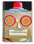 Vintage Robot Toy Square Pop Art Spiral Notebook