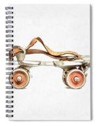 Vintage Roller Skate Painting Spiral Notebook