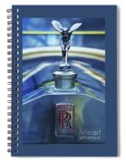 Collectible Logo And Emblem On A Vintage Rolls Royce Spiral Notebook