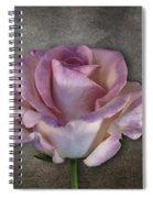 Vintage Rose On Gray Spiral Notebook