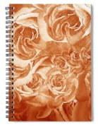 Vintage Rose Petals Abstract  Spiral Notebook
