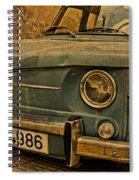 Vintage Rusty Renault Truck Spiral Notebook
