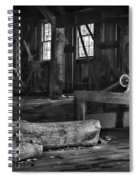 Vintage Sawmill In Black And White Spiral Notebook