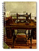 Vintage Singer Sewing Machine Spiral Notebook