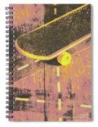 Vintage Skateboard Ruling The Road Spiral Notebook