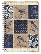 Vintage Songbird Patch 2 Spiral Notebook