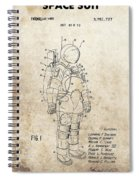 Vintage Space Suit Patent Spiral Notebook