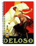 Vintage Spanish Liquor Ad, Flamenco Dancer, Polar Bear Spiral Notebook