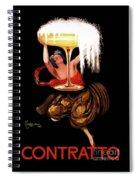 Vintage Sparkling Wine Advertisement Spiral Notebook