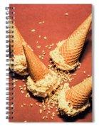 Vintage Summer Ice Cream Spill Spiral Notebook