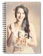 Vintage Tea Advertisement Pin-up Spiral Notebook