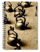 Vintage Teapot Party Spiral Notebook