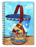 Vintage Tin Sand Bucket Spiral Notebook