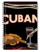 Vintage Tobacco Cuban Cigars Spiral Notebook