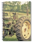Vintage Tractor Keene New Hampshire Spiral Notebook