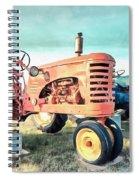 Vintage Tractors Acrylic Spiral Notebook