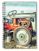 Vintage Tractors Pei Square Spiral Notebook