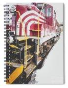 Vintage Train Locomotive Spiral Notebook
