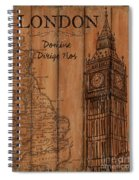 Vintage Travel London Spiral Notebook