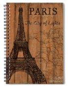 Vintage Travel Paris Spiral Notebook