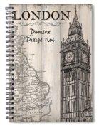 Vintage Travel Poster London Spiral Notebook