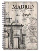 Vintage Travel Poster Madrid Spiral Notebook