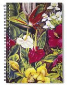Vintage Tropical Flowers Spiral Notebook