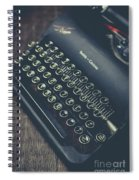 Vintage Typewriter Faded Film Spiral Notebook