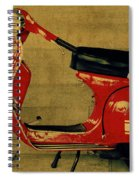 Vintage Vespa Scooter Red Spiral Notebook