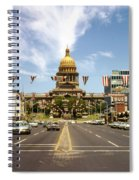 Vintage View Of The Texas State Capitol And Downtown Austin From September 1968 Spiral Notebook