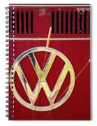 Vintage Vw Bus Logo Spiral Notebook