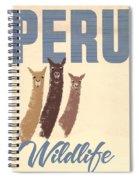 Vintage Wild Life Travel Llamas Spiral Notebook