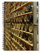 Vintage  Wine Bottles Spiral Notebook