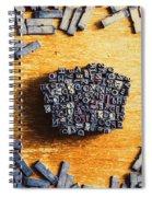 Vintage Writers Block Spiral Notebook