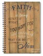 Vintage Wtlb Faith Spiral Notebook