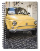 Vintage Yellow Fiat 500 In Rome Spiral Notebook
