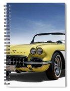 Vintage Yellow 'vette Spiral Notebook