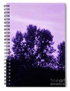 Violet And Black Trees  Spiral Notebook