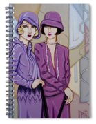 Violet And Rose Spiral Notebook